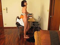 Sexy Ladyboy Slut Shows Her Ass Off For You