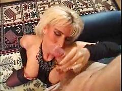 Mature Blonde Whore Gets Her Pussy Licked And Fucked