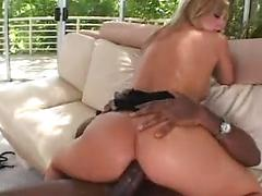 Blond Suck A Black Cock And Takes It In The Ass