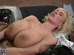 Nasty Big Tit Farmgirl Lays On Her Back And Takes Dick