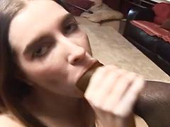 Young Amateur Mouth Full Of Dark Meat