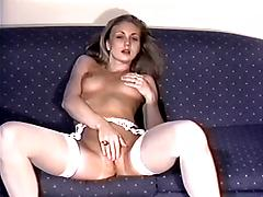 Jacqueline Lovell - stockings & masturbation part 2