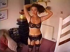 Busty horny wife teases and gets fucked