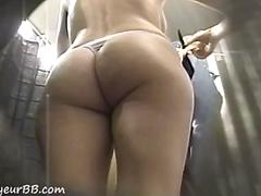 Monster ass in changing room
