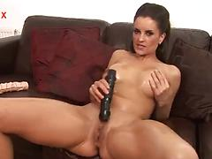 Gorgeous milf Valentina Cruz plays a wild solo fucking herself with a dildo