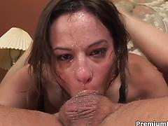 Amber Rayne gets face fucked